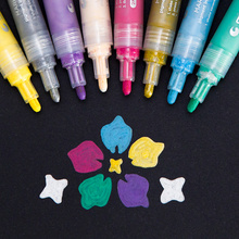 24 Assorted Colors Manga Acrylic Painter Marker Waterproof Paint Marker Pen Permanent Paint Pen Works on Most Surfaces