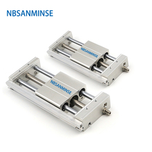 NBSANMINSE CY1S 40mm Bore Magnetically Coupled Rodless Cylinder Air Slider Cylinder Pneumatic Automation Parts стоимость