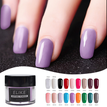 ELIKE nail dipping powder systems 10g long lasting no UV light organic and healthy dry glitter art decoration