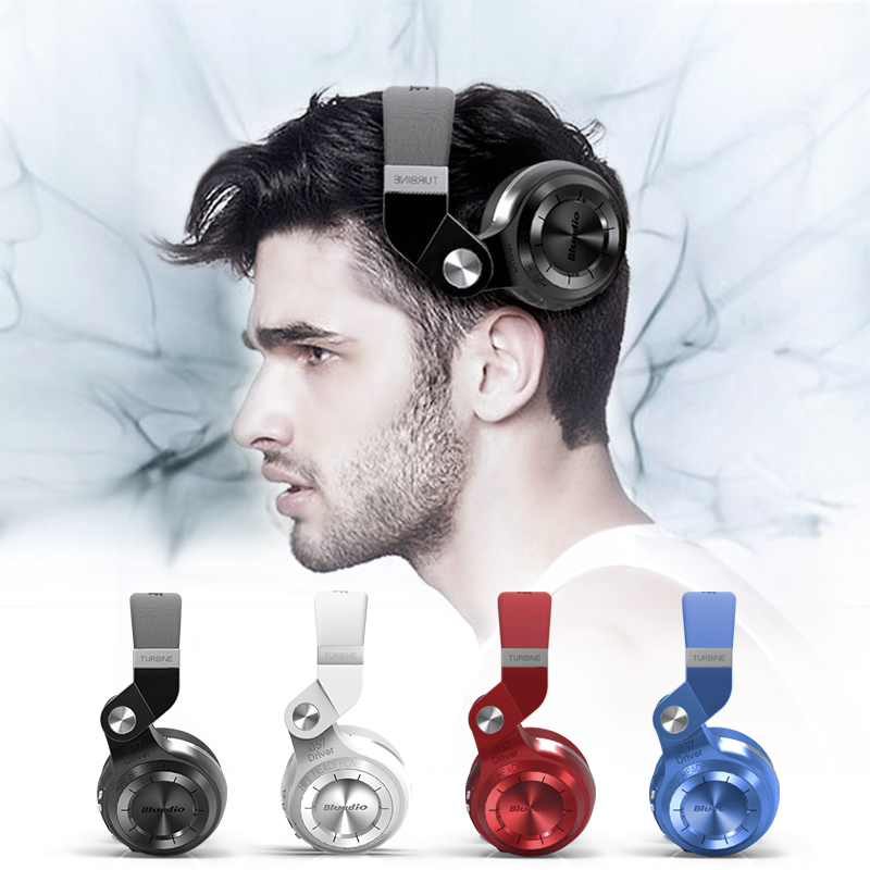 цена Bluedio T2+ Bluetooth Headphones Bass Stereo Wireless Earphones and Headphone with Microphone Headset Support FM Radio TF Card