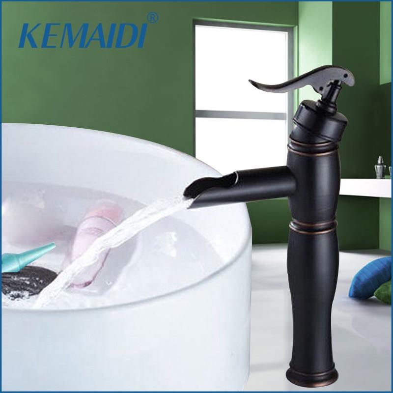 KEMAIDI New Arrival Wholesaleu0026Retail Bathroom Faucet Deck Mounted Bamboo  Shape Basin Sink Faucet ORB Black Bathroom Mixer Tap