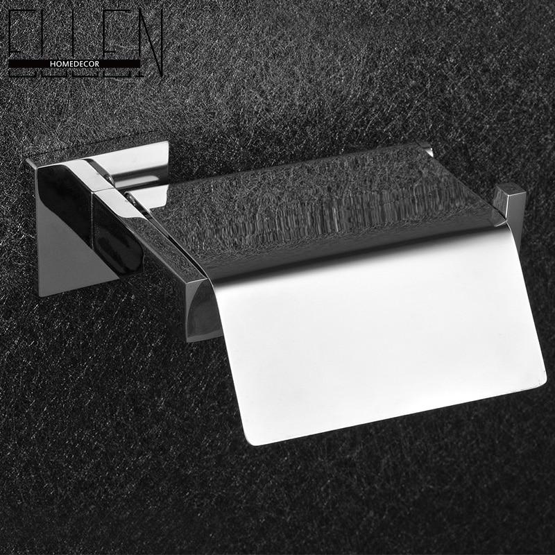 Square Bathroom Accessories Chrome popular toilet roll holder square-buy cheap toilet roll holder