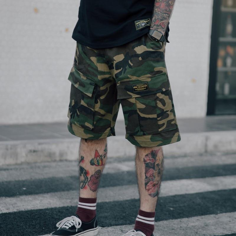 Streetwear Camouflage Cargo Shorts Men Military Urban Outdoor Tactical Shorts Fashion Hip Hop Bermuda Short Pants Joggers
