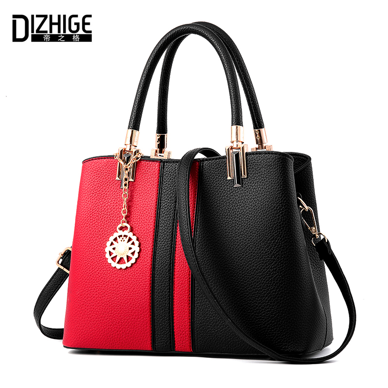 DIZHIGE Brand Panelled Women Bags Luxury Handbags Designer PU Leather Bags Women Handbags High Quality Ladies Shoulder Bags Sac dizhige brand 2017 fashion thread crossbody bags plaid pu leather bags women handbags designer shoulder bags ladies sac spring