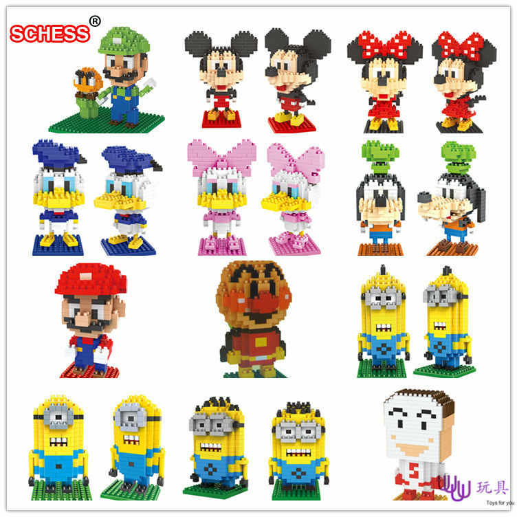 SC: Mike Goofy 1003-13 Diamond Micro Nano Building Blocks Action Figure boy & girl gifts image