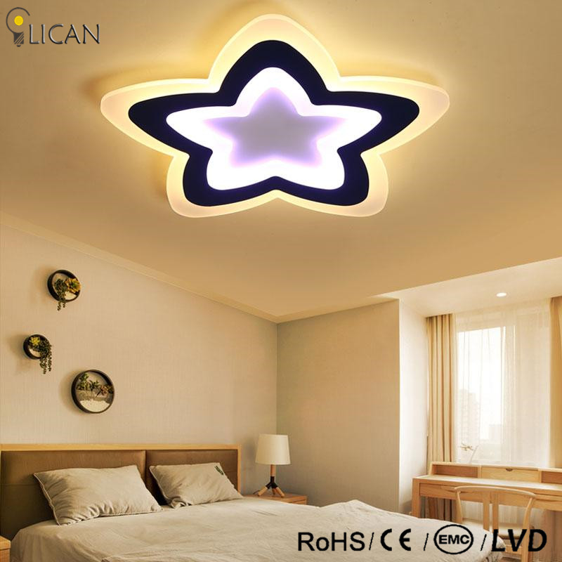 LICAN modern LED Ceiling Lights acrylic Living Bedroom lights Decorative lampshade Lamparas de techo Dimmer Ceiling Lamp for kid modern led ceiling lights acrylic ultrathin living room ceiling lights bedroom decorative lampshade lamparas de techo