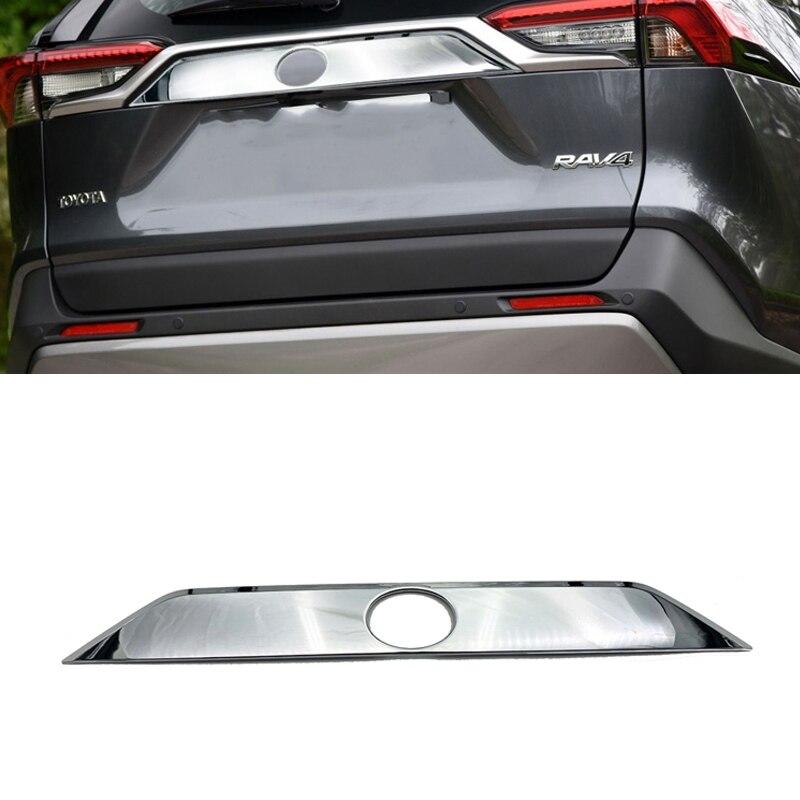 Garniture de porte de Streamer de coffre arrière chromé ABS de haute qualité pour accessoires de voiture Toyota RAV4 2019 2020