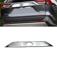 High Quality ABS Chromed Rear Trunk Streamer Gate Trim For Toyota RAV4 2019 2020 Car Accessories