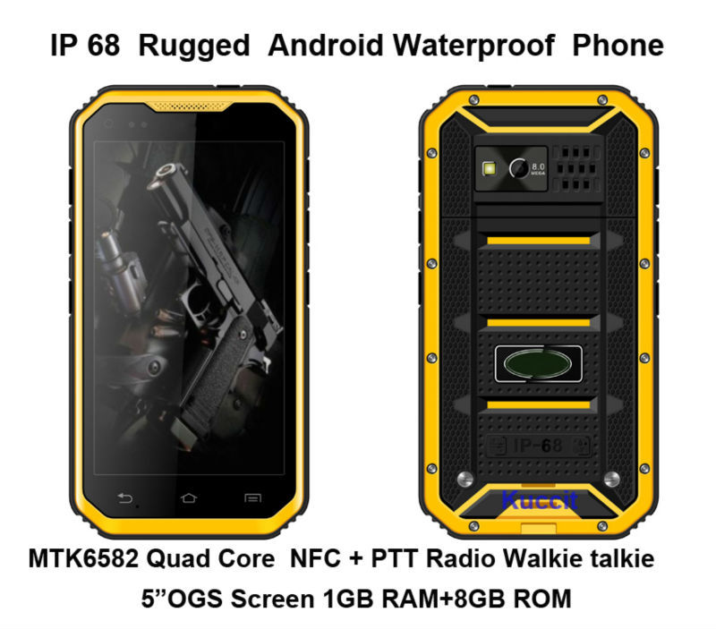 original DG2 IP68 Rugged Waterproof phone Mobile Android MTK6582 Quad Core 5 Phone 1280x720 NFC GPS