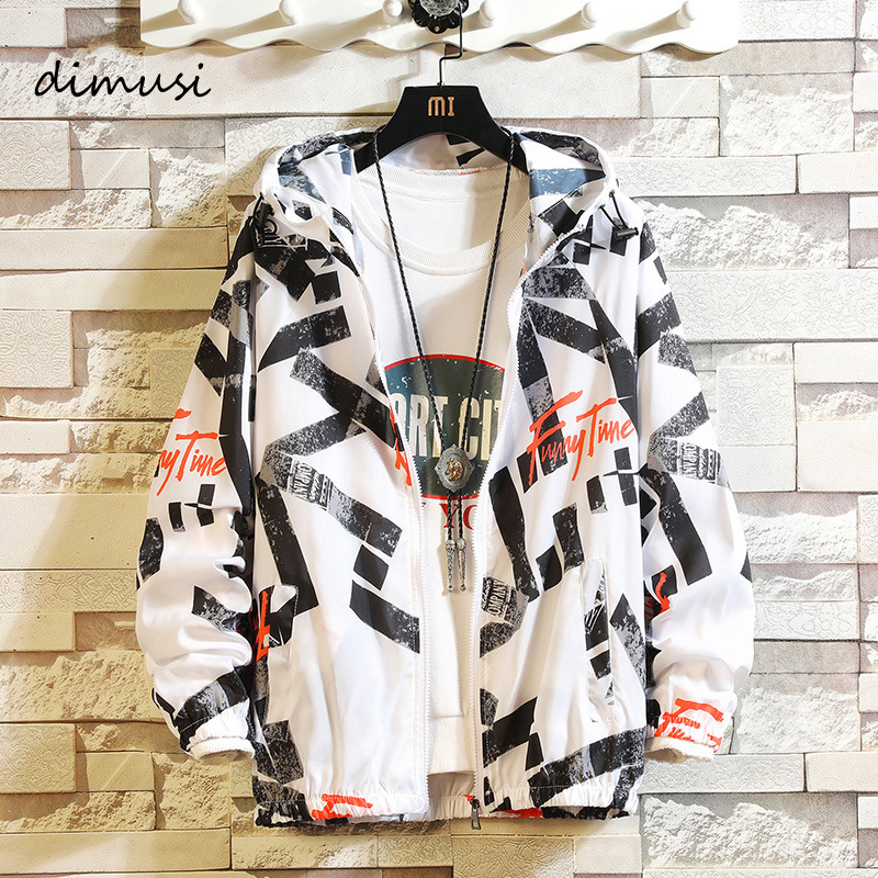 DIMUSI Summer Mens Jackets Fashion Men Sunscreen Skin Bomber Jackets Men Ultralight Windbreake Hoodies Coats Sportswear Clothing