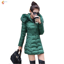 2017 Winter Latest Fashion Women Big Yards Coat Loose Leisure Pure Color Hooded Collars Keep Warm