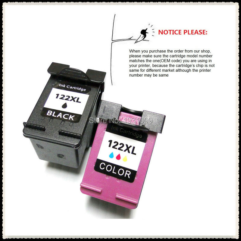 YOTAT Remanufactured ink cartridge for HP122 HP122XL <font><b>HP</b></font> <font><b>122</b></font> for <font><b>hp</b></font> Deskjet 2512 2510 2050 3054A 2540 5530 printer image