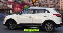 Для Hyundai ix25 Creta 2014 2015 2016 2017 из нержавеющей стали полный отделка окна без центральной стойки окон гарнир surround trim