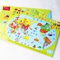 Mapa do mundo de madeira enigma de madeira Brinquedos para crianças early learning Chinês China Mapa enigma Crianças brinquedos educativos W259