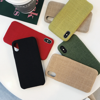 Vintage Cloth Phone Cases For iphone 10 XS XR British Style Soft TPU Cover for iphone 8 7Plus XS max 6s Fabric Plain back cover iPhone