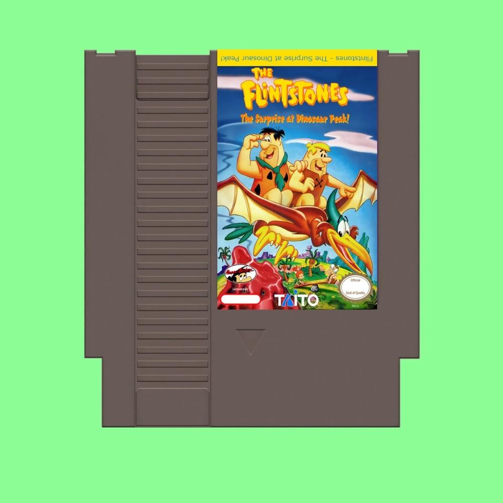 Best Sale Flintstones The Surprise at Dinosaur Peak! Game Card For 72 Pin 8 Bit Game Player