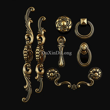Retro Vintage 1PCS Kitchen Cabinet Door Handles European Antique Cupboard Wardrobe Drawer Pulls & Knobs