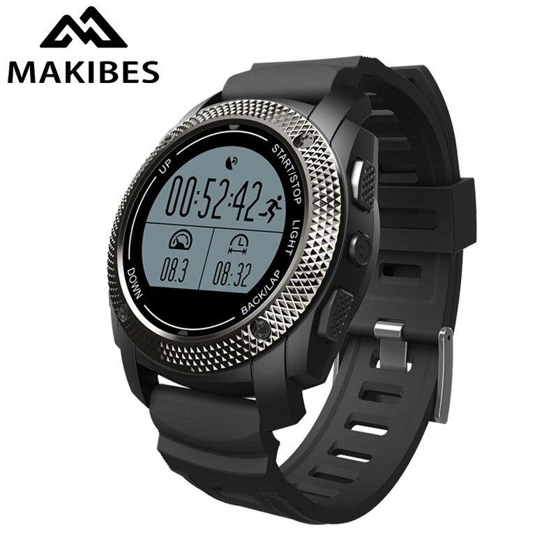 все цены на Makibes G02 GPS Sports Watch Outdoor Sport Smart Watch Bluetooth4.0 Built-in GPS tracker Multiple Sports Heart rate monitor онлайн