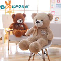 1pc 90cm Lovely Teddy Bear With Bowknot Plush Toy Soft Animal Bear Toys For Children Stuffed Cartoon Doll For Girls Gift