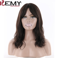 KEMY HAIR FASHION 18 168G Natural Wave Human Hair Wigs Natural Color Skin Middle Part Brazilian