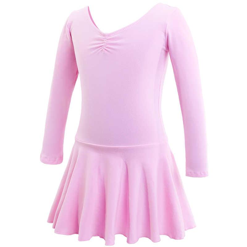 ילדי התעמלות בלט עקף בגד גוף בנות בסיסי כותנה בלט ריקוד בגד גוף בלרינה ילדי שמלת ריקוד תחפושות