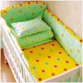 ГОРЯЧАЯ 6 Шт./компл. детское постельное белье комплект 100% хлопок кроватке бампер детская кроватка устанавливает детская кровать бампер бесплатная доставка