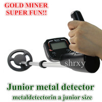 Shrxy Junior Metal Detector Kid Hand Held Underground Metal Detector Toys Gold Miner Bounty Hunter Same