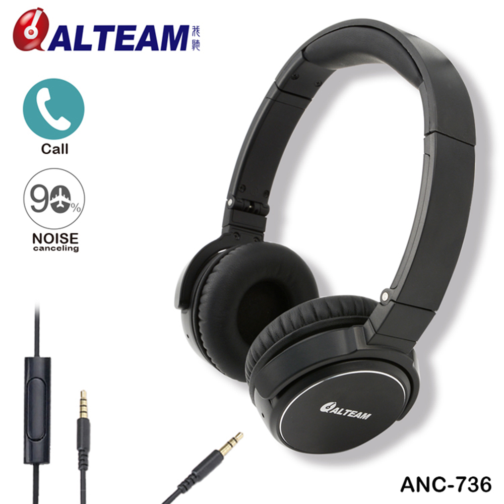 New Arrival Fashion Foldable Stereo Music 3.5mm ANC Active Noise Cancelling Headphone Headset with Microphone For Mobile Phone brand anc active noise canceling headphones headset with microphone stereo for all mobile phone iphone xiaomi mp3 mp4 player