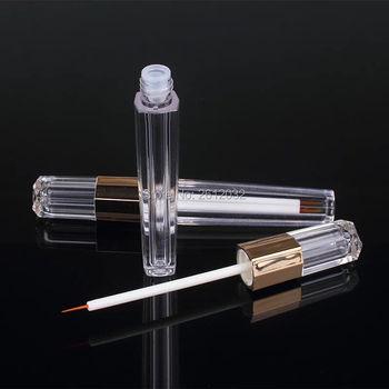100pcs 3ml Acrylic Eye Liner Packaging Pen Eyelash Growth Liquid Tube Empty Lip liner Pen Eyeliner Bottle with Thin Brush