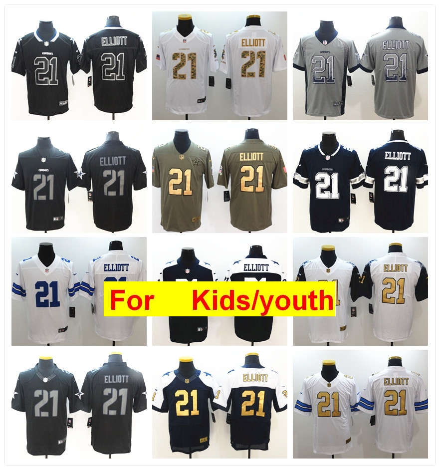 brand new 8ebb9 890ad US $28.38 |youth Dallas Ezekiel Elliott Game Color Rush Football jerseys-in  T-Shirts from Men's Clothing on Aliexpress.com | Alibaba Group