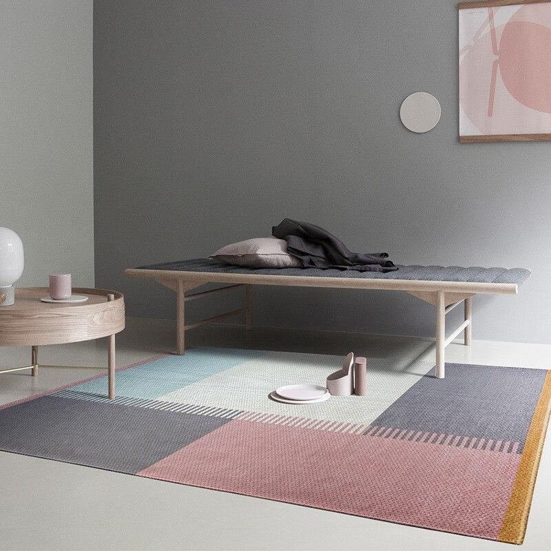 Style nordique Plaid Polyester tapis pour salon tapis maison tapis tapis décorer maison plancher porte tapis enfant tapis de jeu