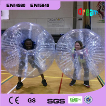 Hot selling!1.5m 0.8mm PVC soccer ball bubble /bumper ball/inflatable zorb ball/loopy ball/bubble football