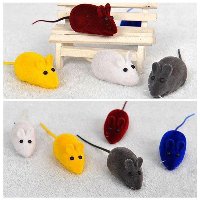 Animale domestico di Gomma Del Mouse Interattivo Suono Giocattolo Divertente Gat