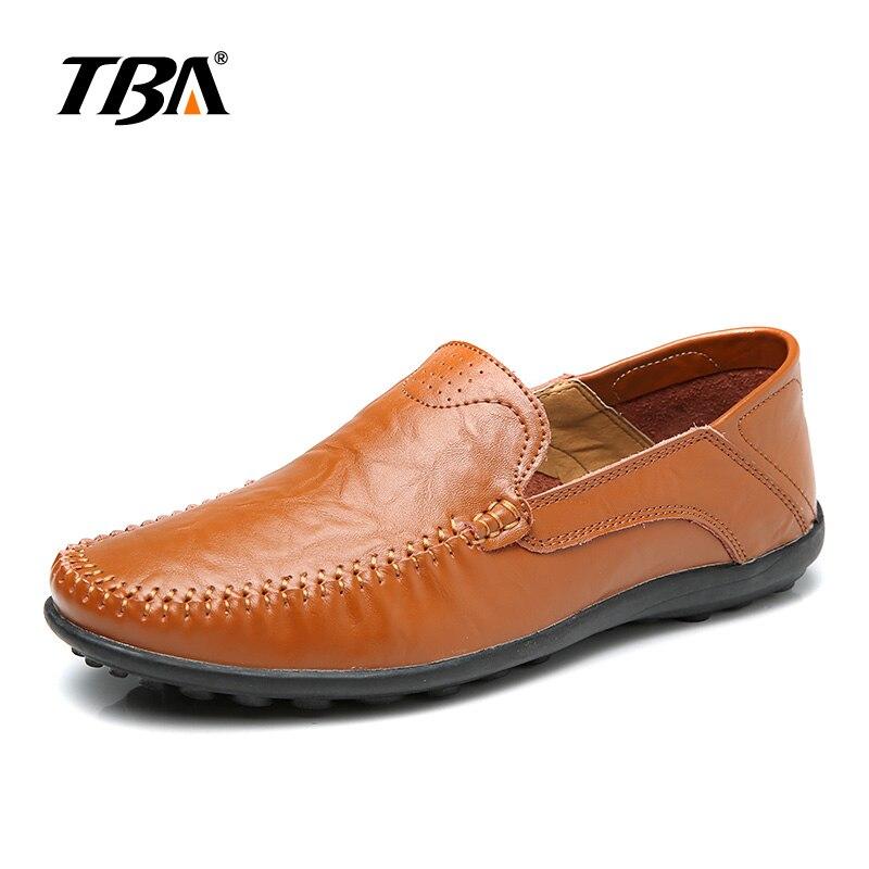 2019 TBA мужская кожаная обувь без шнуровки Мужская Уличная прогулочная обувь мужские черные туфли из PU искусственной кожи высокого качества б... - 2