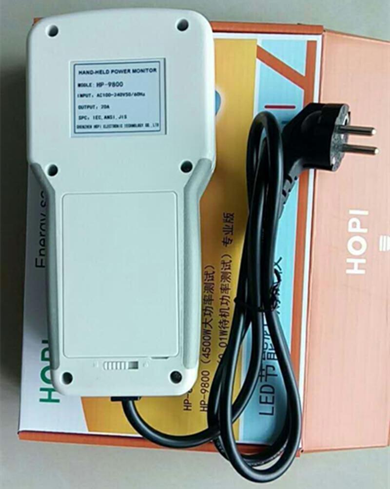 Digital Electric Power Energy Meter Tester Monitor Watt Meter Analyzer energy saving lamps tester HP9800 0-9999KW EU plug 3