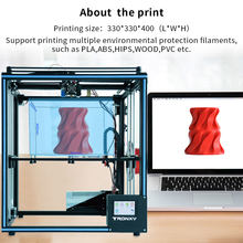 2019 X5SA Diy Penuh Struktur Logam Cetak Besar Ukuran 330*330*400 Mm Full Metal Layar Sentuh auto Level 3D Printer Kit(China)