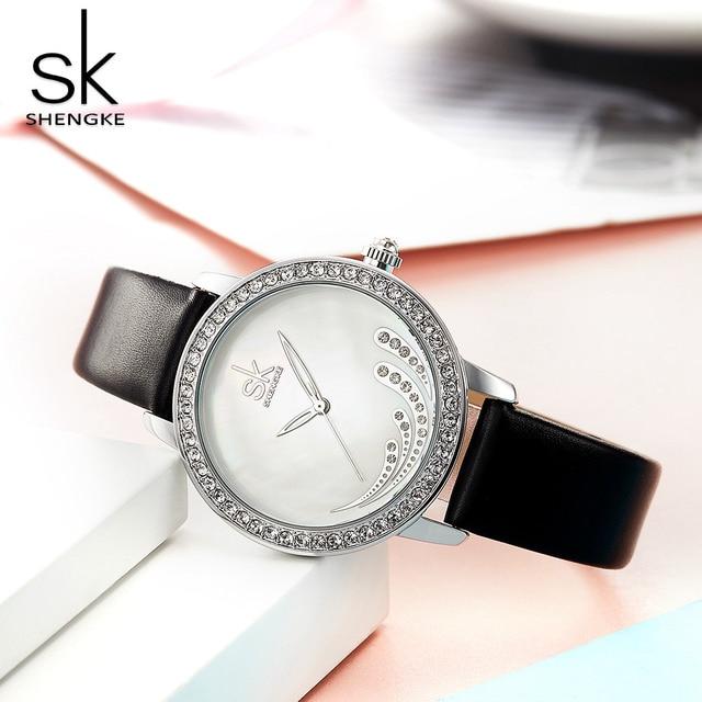 SHENGKE SK Watch Women Top Brand Luxury Rhinestone Women's Watches Fashion Ladies Watch Clock saat reloj mujer relogio feminino