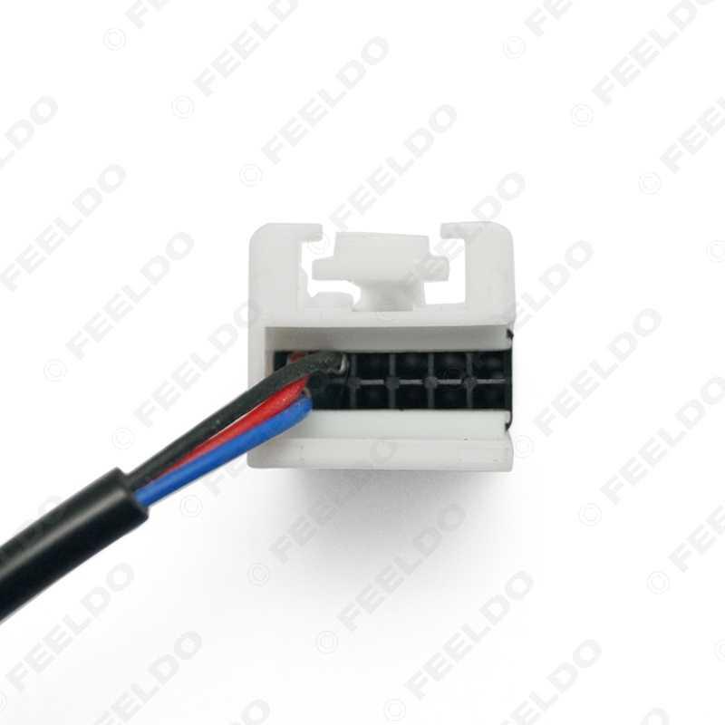 FEELDO 1Pc samochodowe stereo Audio 3.5mm męski AUX kabel adapter dla Volkswagen Polo/Golf/seat ibiza radia OEM RCD210/310 # FD-1673