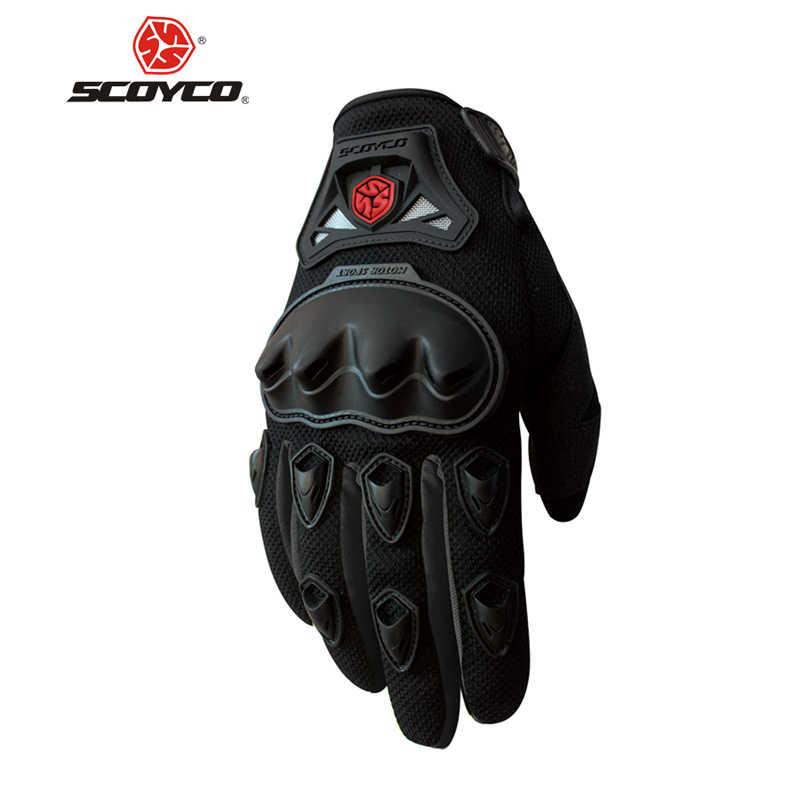 SCOYCO Moto Gants été respirant portable protection Guantes Moto Luvas Alpine Motocross étoiles Gants Moto été guant
