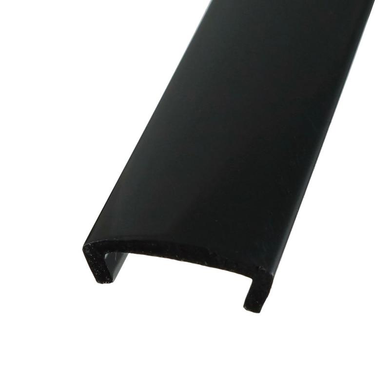 20ft 6m Length Plastic U-Molding U Moulding Black For 3/4