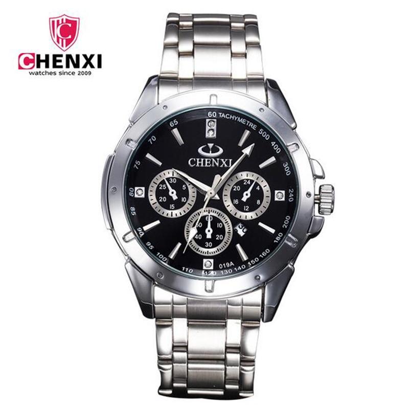 ed729705e19 ... Relógios de Marca Famosa dos homens de Moda À Prova D  Água Reloj Hombre.  CHENXI Sports Men Watch Stainless Steel Quartz Wristwatches Male Waterproof  ...