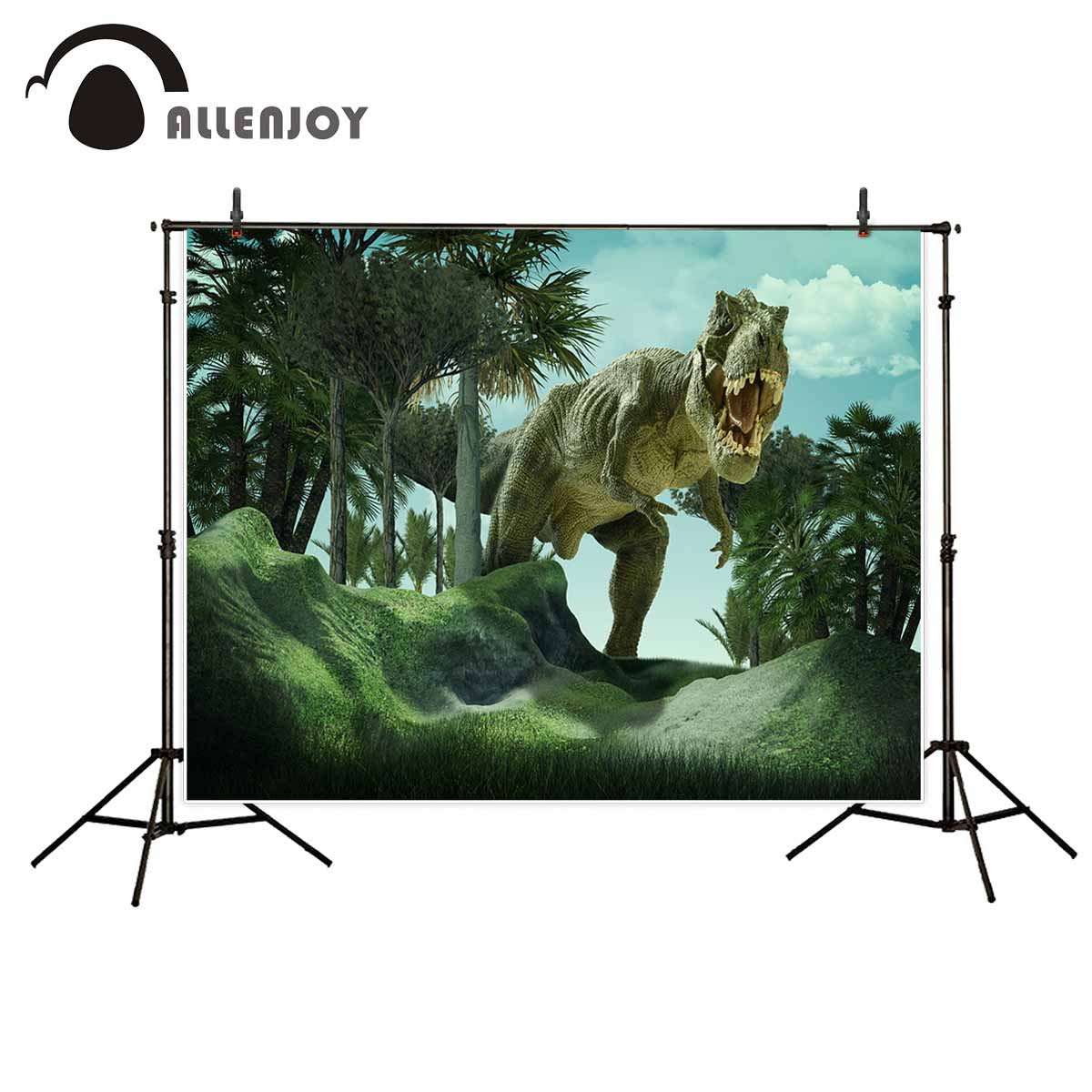 Allenjoy Dinosaur tree tropical soil slope photo backdrop photography studio funds fund new photographic backdrops