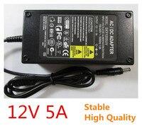 높은 품질의 12 볼트 5A 100 볼트 240 볼트 AC 컨버터 어댑터 DC 12 볼트 5A 60