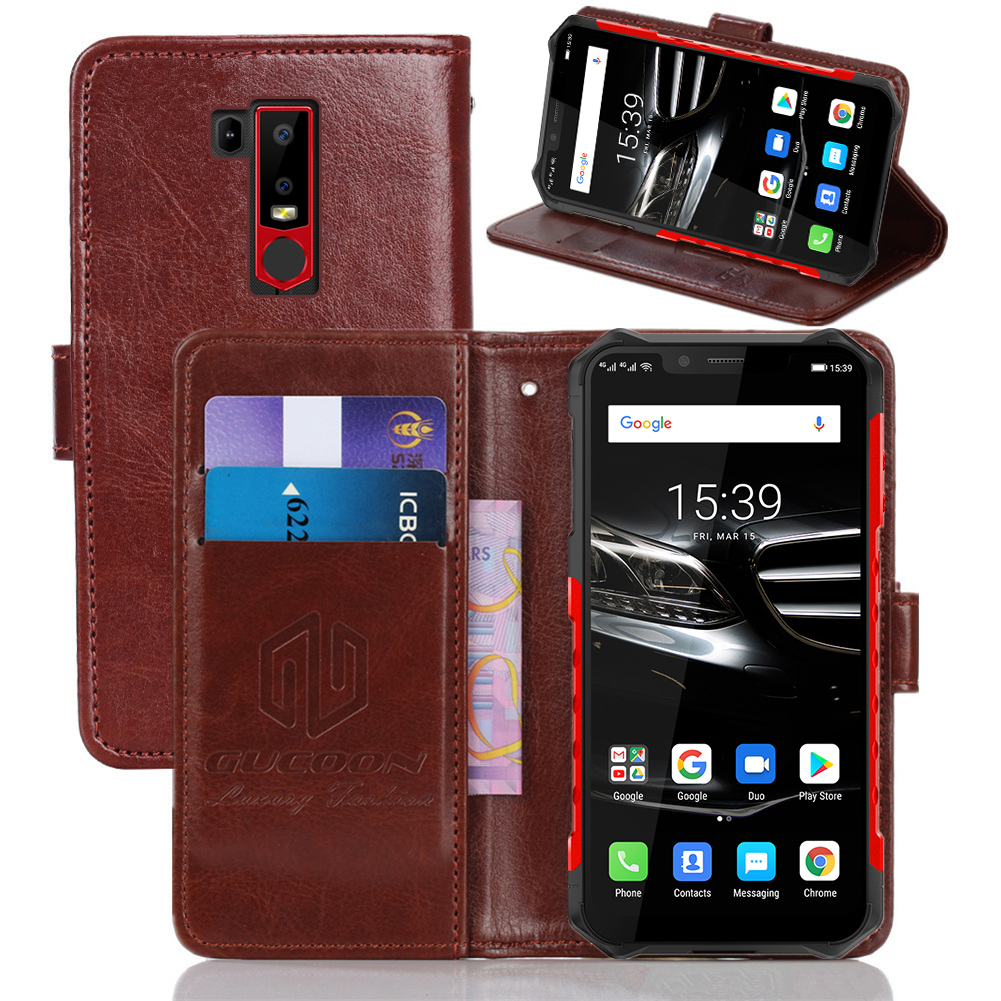 GUCOON Classic Wallet Case for Ulefone Armor 6 6E Cover PU Leather Vintage Flip Cases Fashion Phone Bag Shield 1