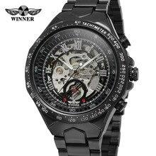 T-Победитель мужские Часы Лучший Оригинальный Новый Дизайн Браслет Из Нержавеющей Стали Скелет Автоматические Наручные Часы Цвет Серебристый WRG8067M4B