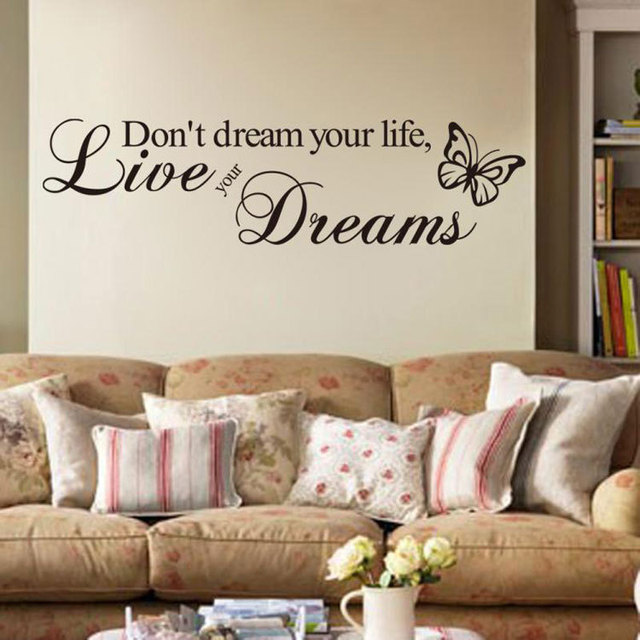 Donu0027t Dream Your Life Live Your Dreams Quotes Wall Sticker Home Decor  Bedroom Home