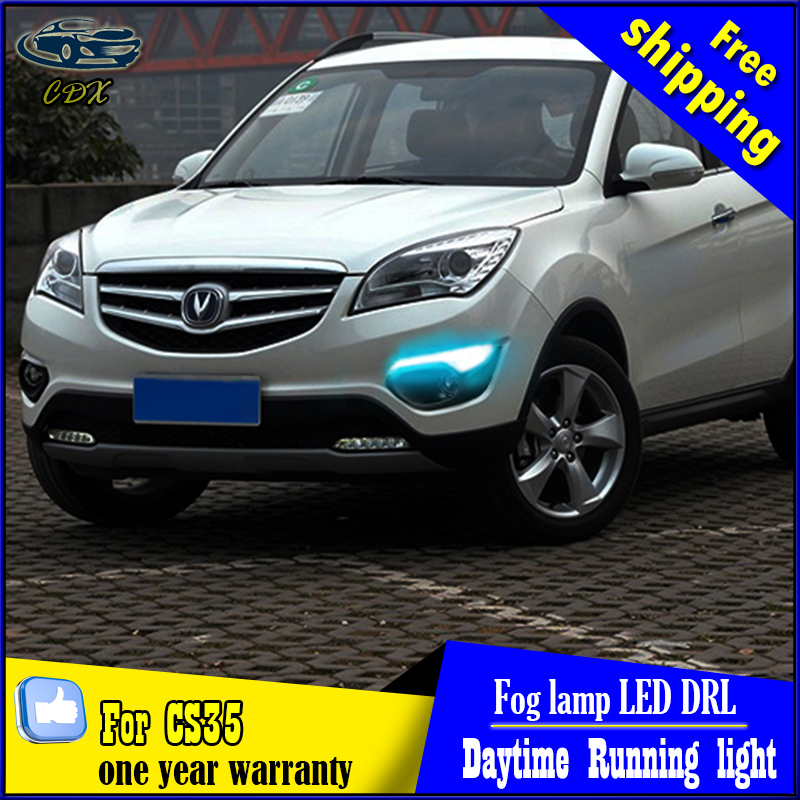 Free Shipping for CHANGAN CS35 Daytime Running Light Fog light High Quality LED DRL fog lamp DRL+Front bumper light 4pcs/set антиквариат