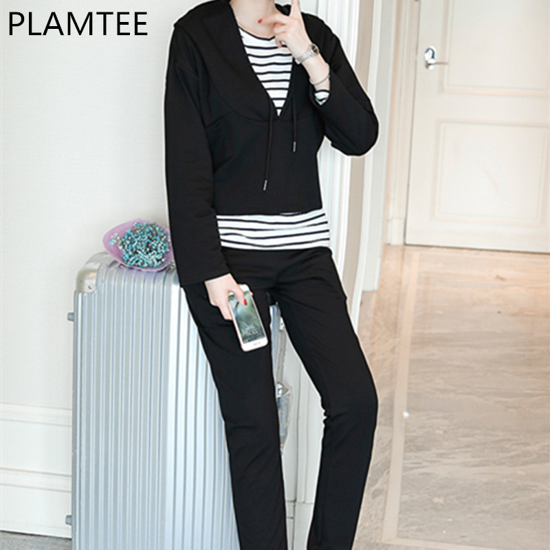 PLAMTEE 3 Pcs Maternity Long Sleeves Breast-feeding Sets Sping T-shirt Hoddies And Pants For Prgnant Women Clothing New amarpreet kaur karnail singh and m s pannu feeding and immunization affecting nutrition and morbidity