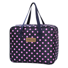 Foldable Travel Bag Women Nylon Waterproof Dot Fashion Boarding Large Capacity Luggage Duffle Casual Handbags 555