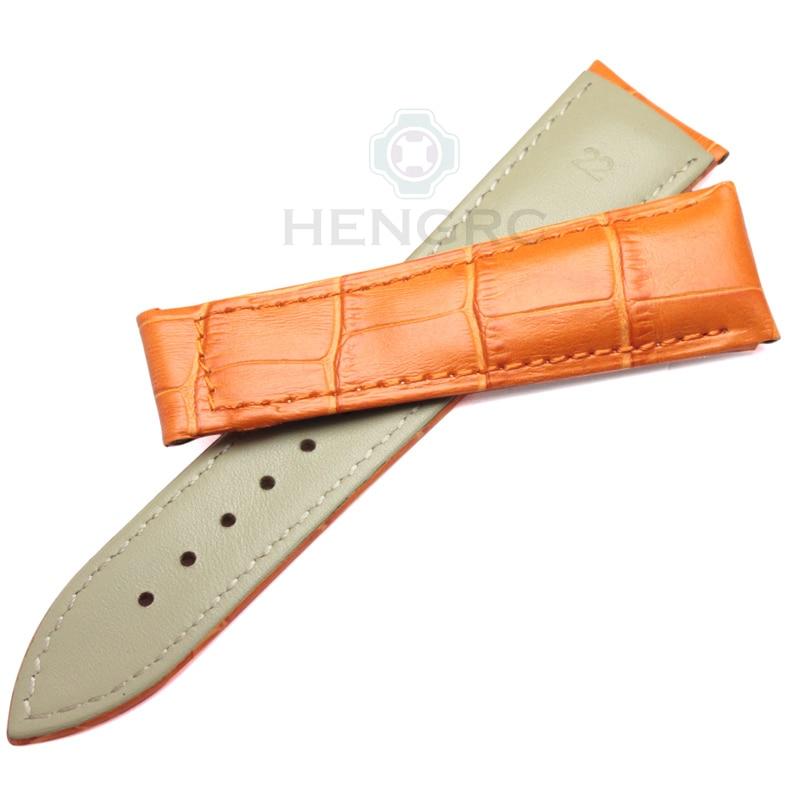 Bandas de reloj HENGRC 20 mm 22 mm Correa de reloj de cuero genuino - Accesorios para relojes - foto 4